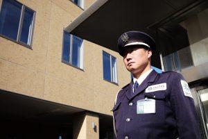 警備会社が設置する防犯カメラ